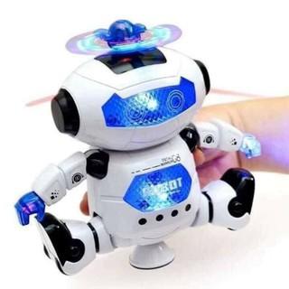 Bộ đồ chơi robot xoay phát nhạc Đồ chơi trẻ em an toàn cho bé xoay 360 độ có nhạc siêu vui nhộn thumbnail