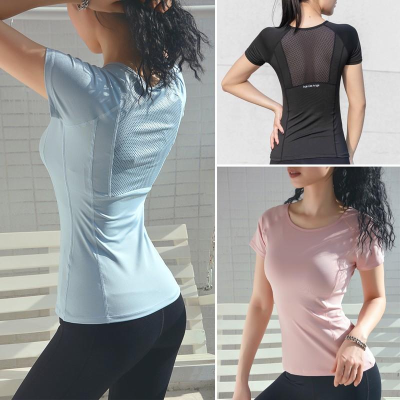 Mặc gì đẹp: Dẻo dai với Áo tập Gym, Yoga, Earobic nữ KENZI-01 Áo thun phối lưới gợi cảm
