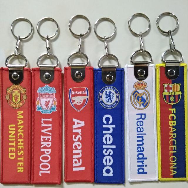 Móc khoá vải các clb bóng đá Arsenal Liverpool Chelsea MU real barca