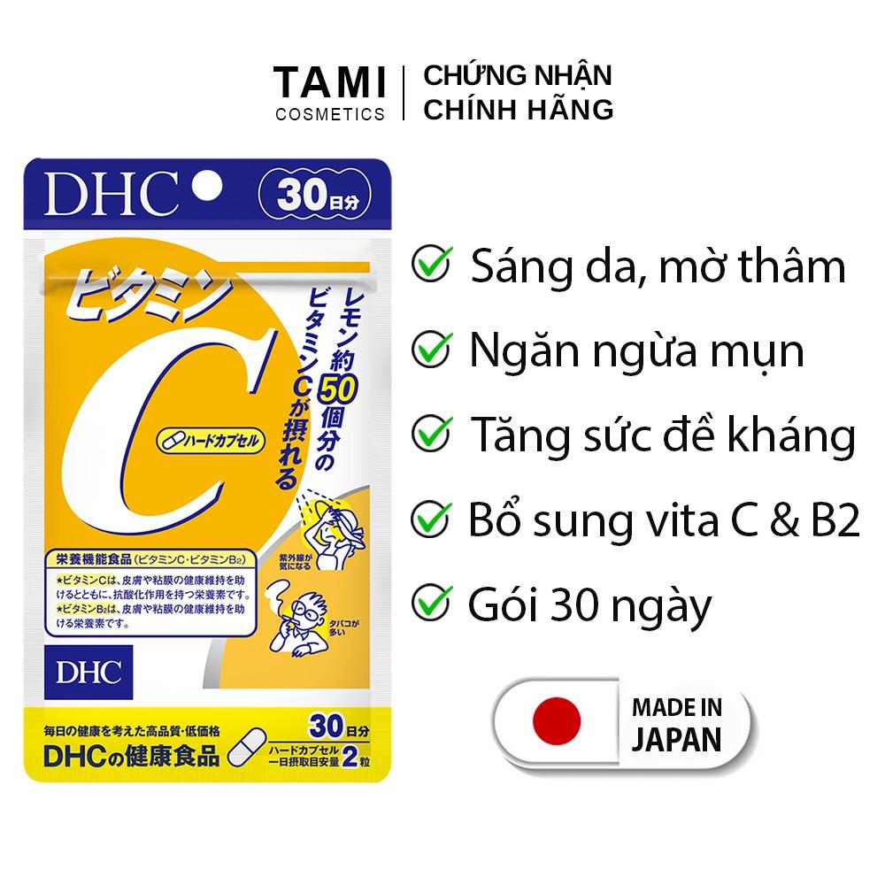 Viên uống Vitamin C DHC Nhật Bản giúp sáng da mờ thâm tăng đề kháng thực phẩm chức năng 30 ngày TM-DHC-C30