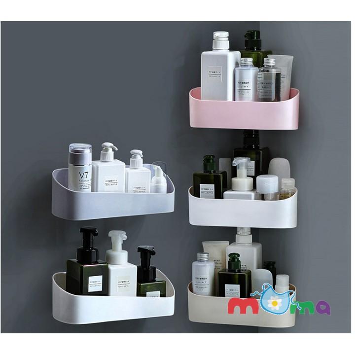 01Giá đỡ,Kệ treo, Khay treo dán góc tường dễ dàng tháo lắp nơi phòng tắm,phòng ngủ đựng mỹ phẩm, gia vị, sắp xếp đồ dùng