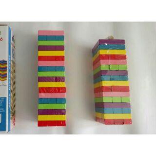 Rút gỗ màu 54 thanh – đồ chơi gỗ – đồ chơi thông minh