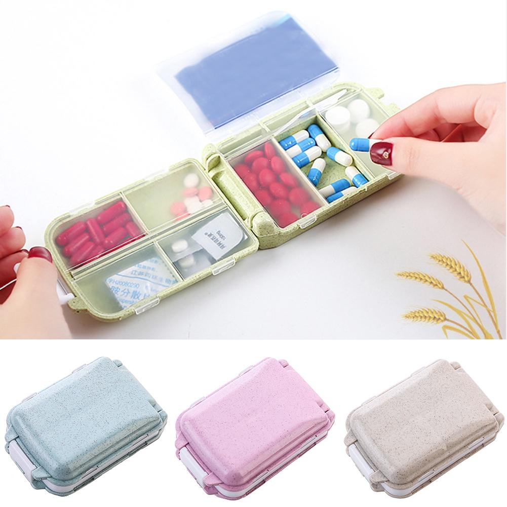 Storage Case Compartment Portable Pill Box Medicine Organizer Dampproof Travel Use