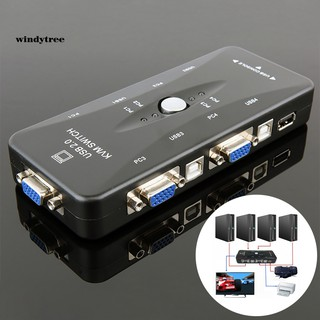 Bộ chuyển đổi KVM USB 4 cổng cho chuột bàn phím máy in VGA 1920x1440