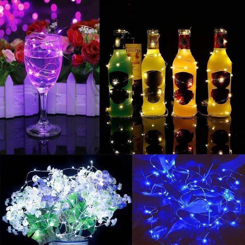 Dây đèn LED thơ mộng 1M 2M 3M 5M sử dụng pin trang trí đa ứng dụng