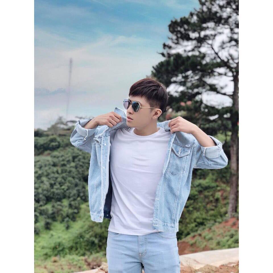Áo khoác jean nam rách fom rộng chuẩn xuất khẩu Hàn Quốc đẹp nhất 2018 của Routine - Áo khoác jeans