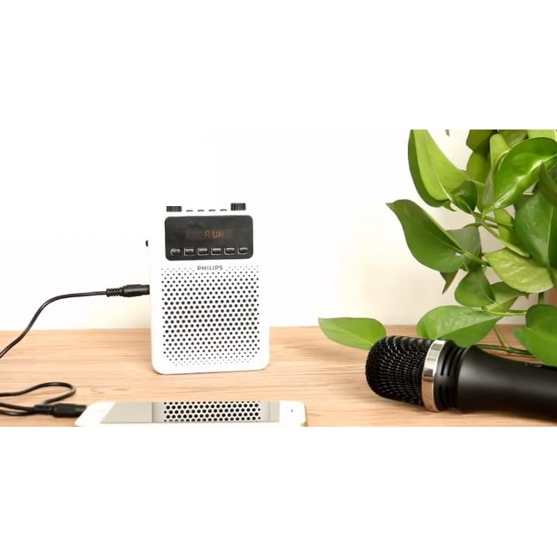 Mic + Loa Trợ giảng cao cấp Philips (Âm thanh vượt trội) + 3 Mic (mic ko dây, mic có dây, mic cúc áo)