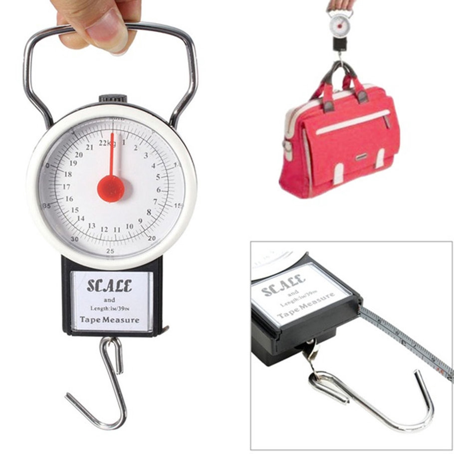 【SYH】22kg Portable ABS Scale Fishing Hook Said Weighing Kitchen With Tape Measure