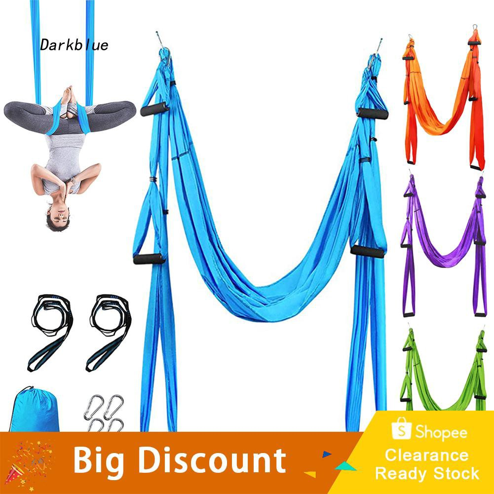 DKBL_Adjustable Anti-Gravity Home Aerial Yoga Hammock Swing Trapeze Inversion Tool