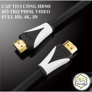[Mã ELFLASH5 giảm 20K đơn 50K] Dây cáp HDMI dài 1.8M 3M 5M 10M 15M JSJ Full HD Hỗ trợ 3D,4K Siêu nét,Ethernet