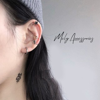 Bông tai đeo vành tai hình ngôi sao , tam giác cá tính hiện đại dành cho nam nữ - Mely 1365 thumbnail