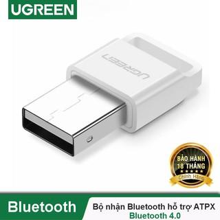 Thiết bị USB thu phát Bluetooth 4.0 UGREEN US192 cho máy tính, laptop - Hàng chính hãng UGREEN