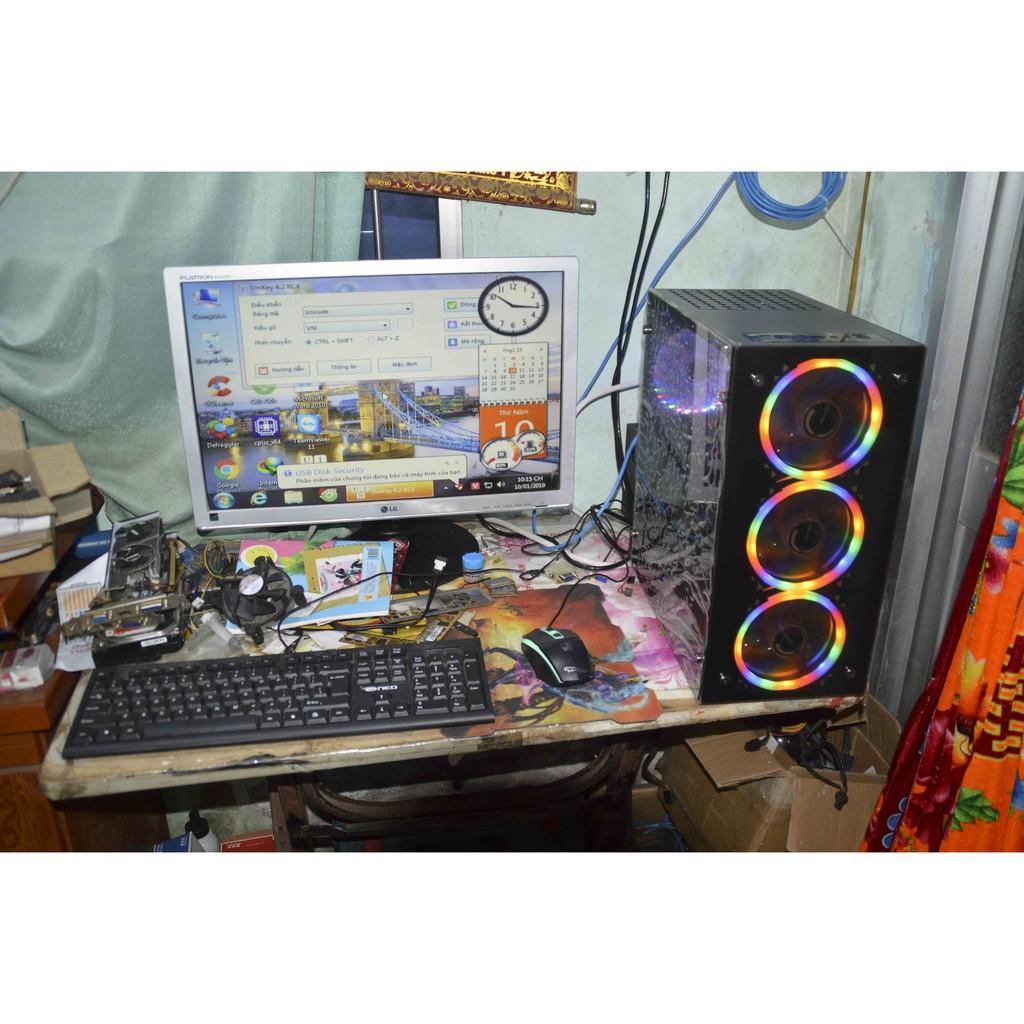 Máy tính bàn 24GB Ram, Card màn hình R7 360 và I3 3240 cực mạnh LOL CF PUBG siêu mượt