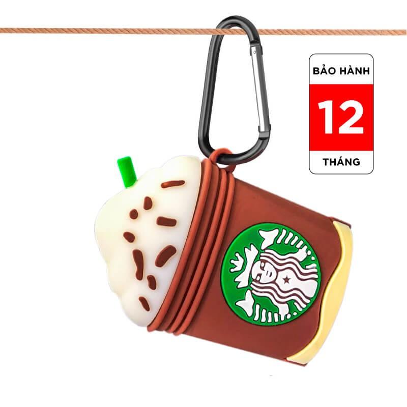 Hộp đựng bảo vệ tai nghe Airpods Case, tai nghe bluetooth, tai nghe chụp đầu, ốp airpod silicon hình Starbucks