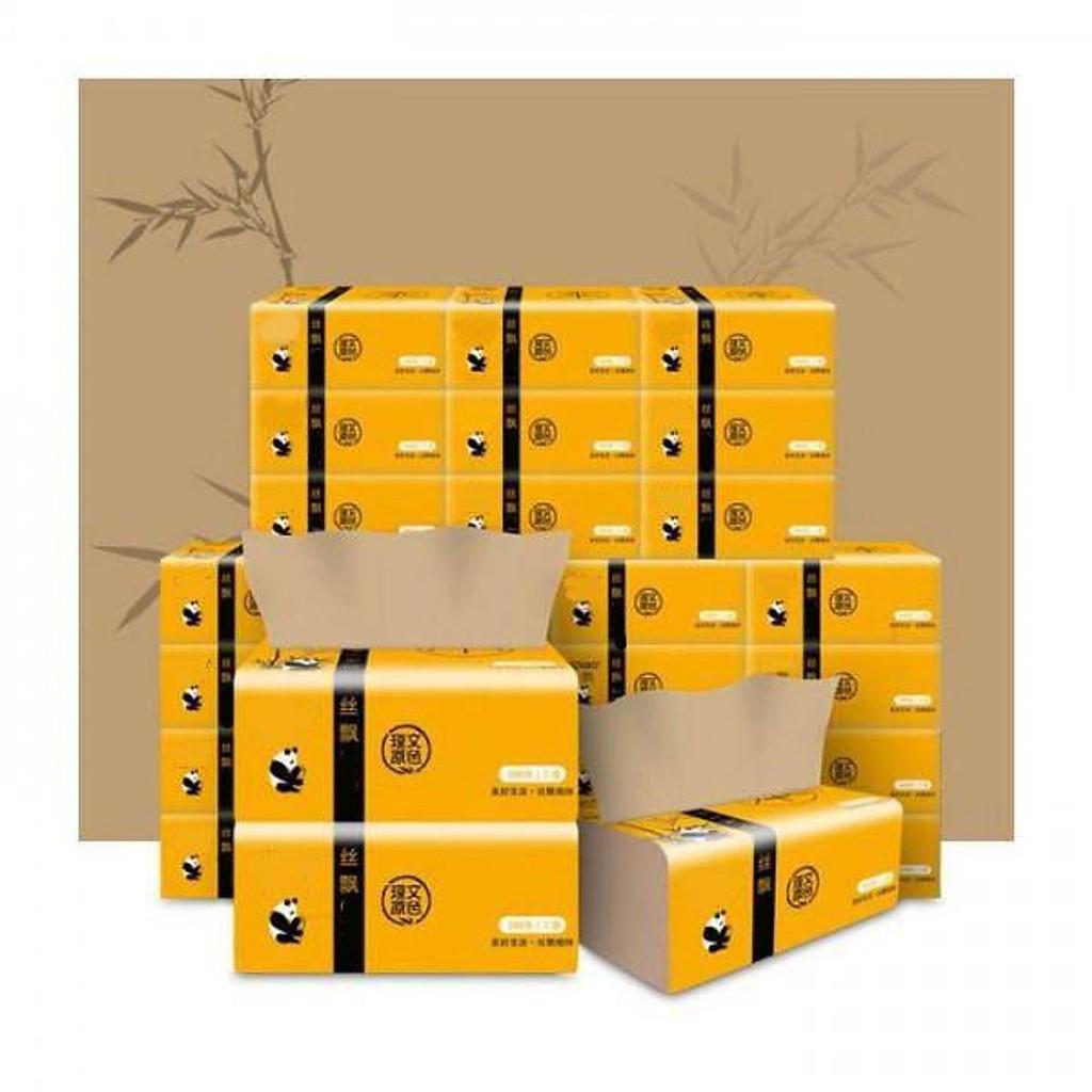 Combo 30 gói Giấy ăn gấu trúc Panda gói 300 tờ siêu dai hàng đẹp hai cây tre