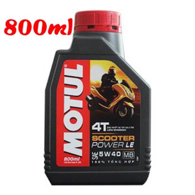 Dầu nhớt xe ga MOTUL SCOOTER POWER LE 5W40 0,8 lít 100% tổng hợp, Dầu nhớt xe máy MOTUL SCOOTER POWE