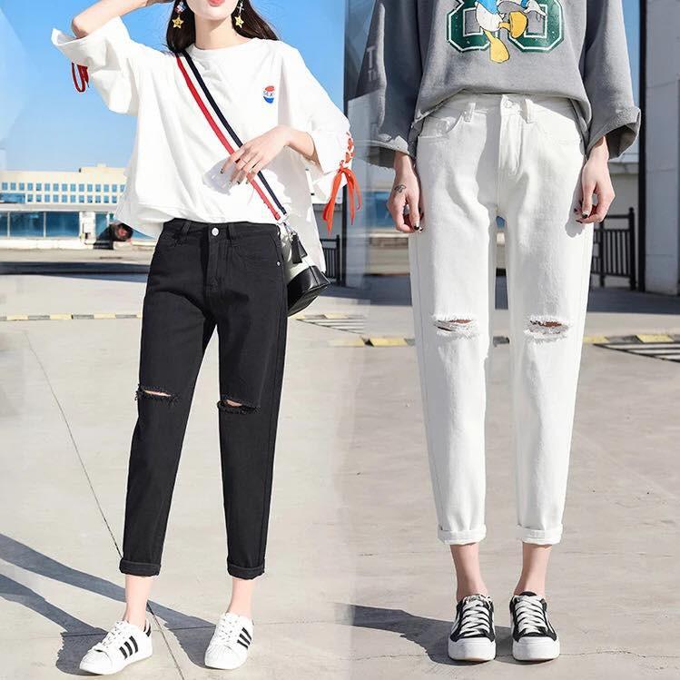 quần ulzzang quần nữ đẹp jean rách quần baggy jeans ống rộng bò mềm đen trắng kiểu dáng hàn quốc - 14745944 , 1695838087 , 322_1695838087 , 220000 , quan-ulzzang-quan-nu-dep-jean-rach-quan-baggy-jeans-ong-rong-bo-mem-den-trang-kieu-dang-han-quoc-322_1695838087 , shopee.vn , quần ulzzang quần nữ đẹp jean rách quần baggy jeans ống rộng bò mềm đen tr