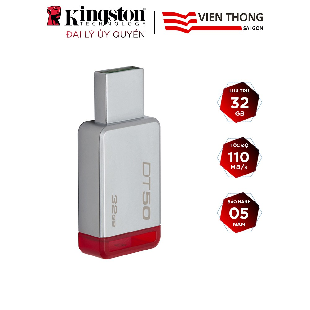 USB 3.0 Kingston DT50 32GB tốc độ upto 110MB/s