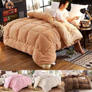 ★ABH★ Thicken Lamb Cashmere Blanket Winter Soft Warm Bed Quilt Bedding for Home Bedroom