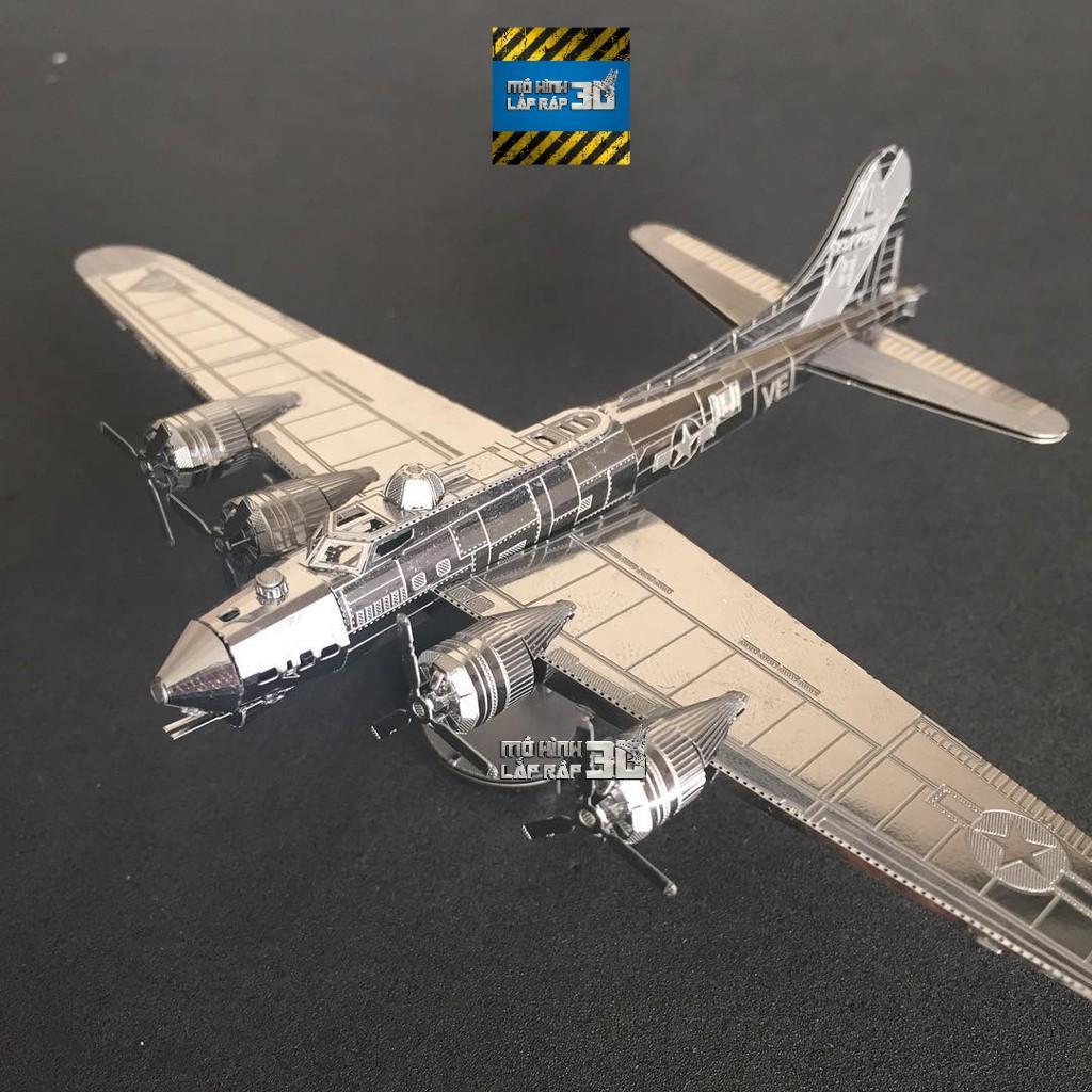 Mô hình 3D kim loại lắp ráp máy bay ném bom hạng nặng B-17 Flying Fortress [Chưa lắp]