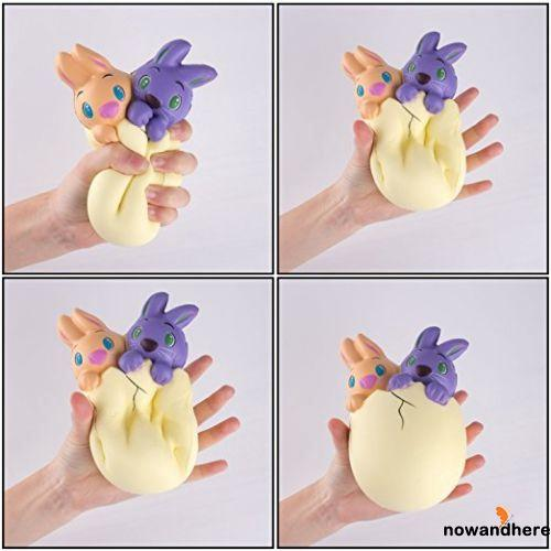 RVE-Squishy Toys Slow Rising Stress Reliever Hand Wrist Rabbit Eggs
