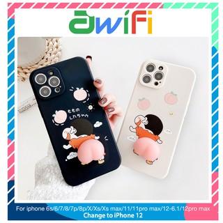 Ốp lưng iphone cạnh vuông BVC shin đào bóp 6/6plus/6s/6splus/7/7plus/8/8plus/x/xs/11/12/pro/max/plus/promax-Awifi C4-1