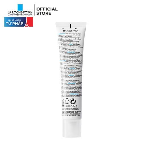 Kem dưỡng da giúp giảm mụn, thông thoáng lỗ chân lông ngăn ngừa thâm và mụn tái phát La Roche-Posay Effaclar Duo+ 40ml