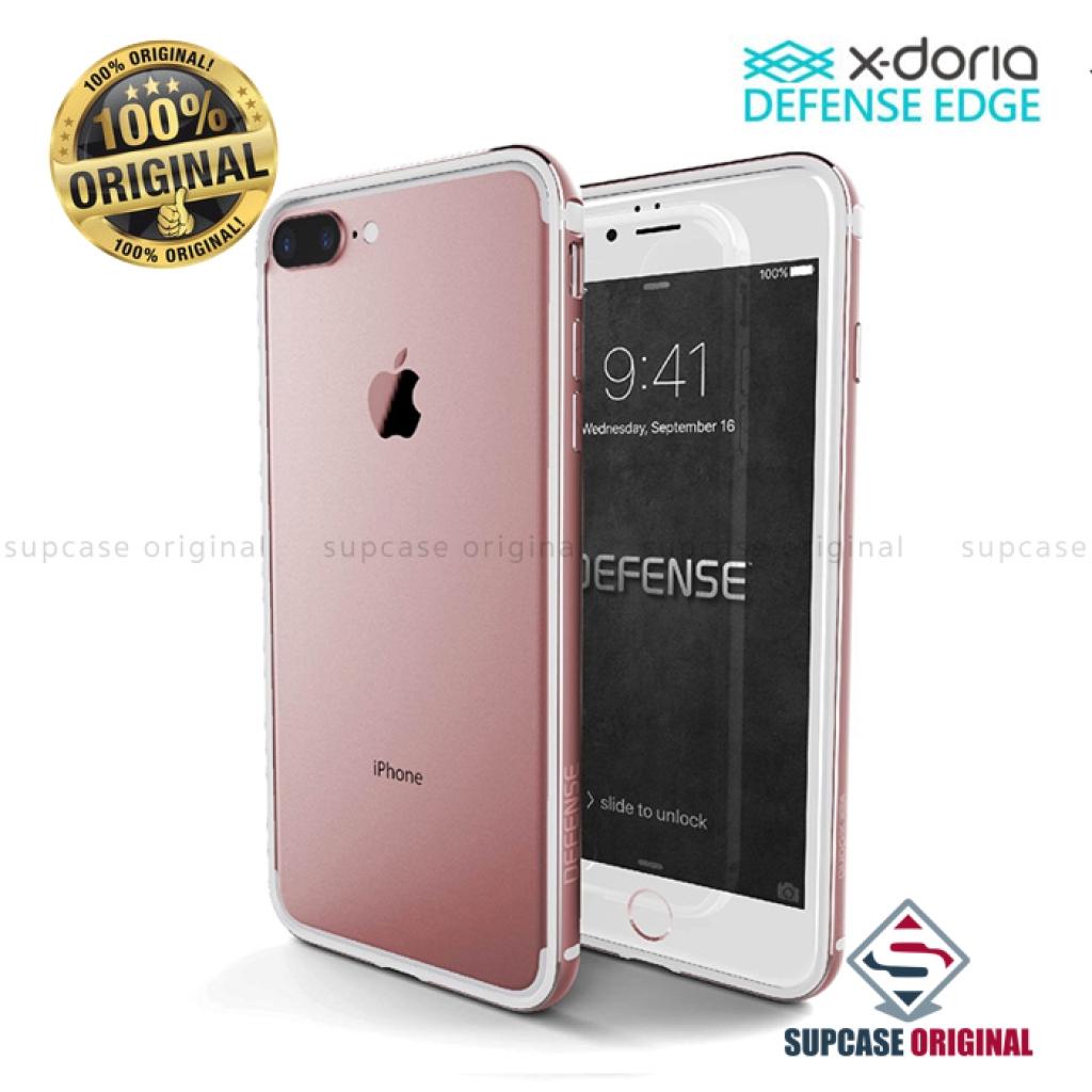 เคสนุ่ม X-DORIA Defense Edge Bumper กันกระแทกระดับ Miltary Grade สำหรับ iPhone 7 Plus และ iPhone 8 Plus สีชมพูโรสโกลด์ (