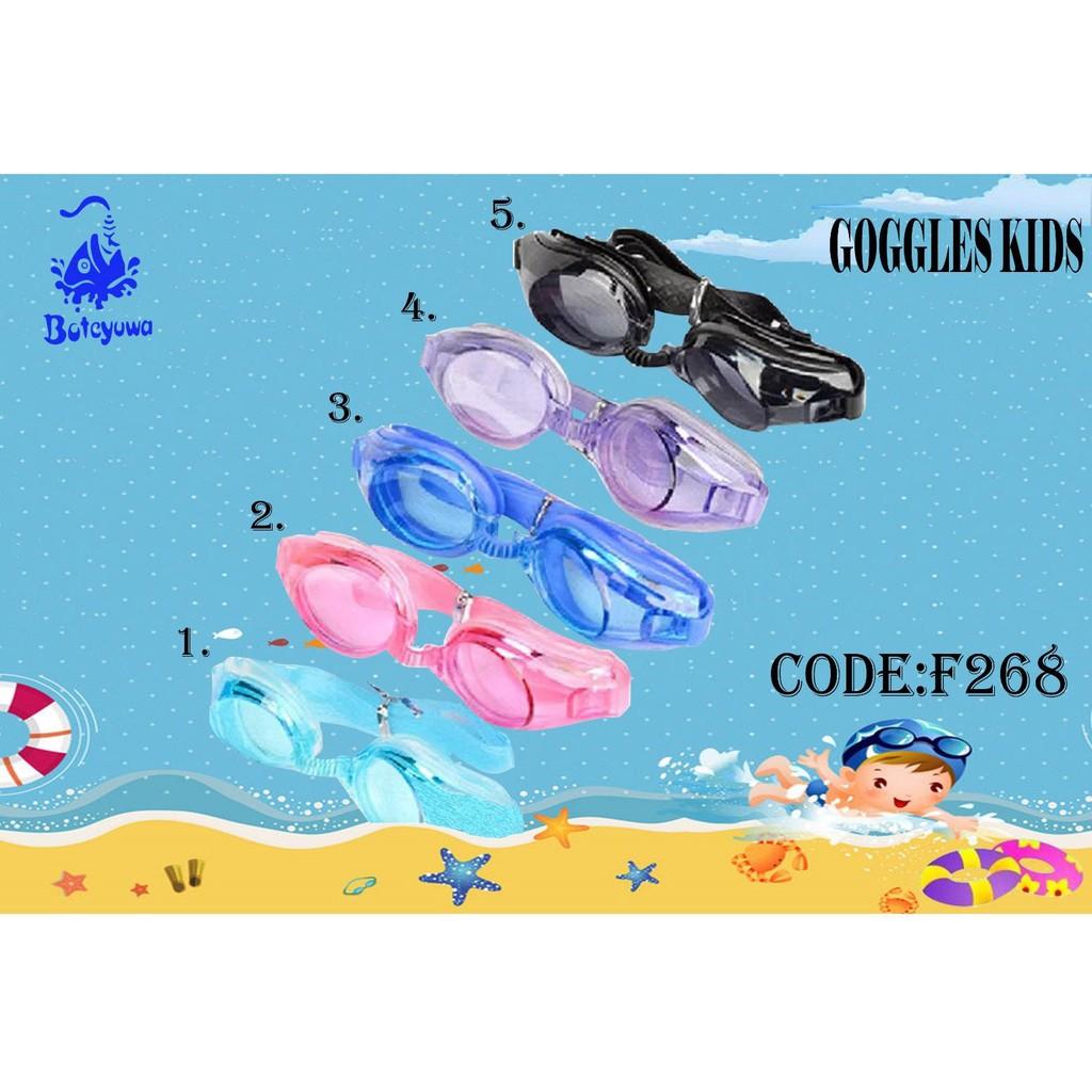แว่นตาว่ายน้ำ เด็ก รุ่น F268