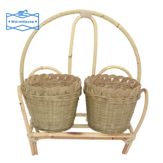 Hand-Woven Bamboo Flower Basket Rattan Woven Flower Basket Wall Hanging Flower Basket Pencil Box Basket for Home