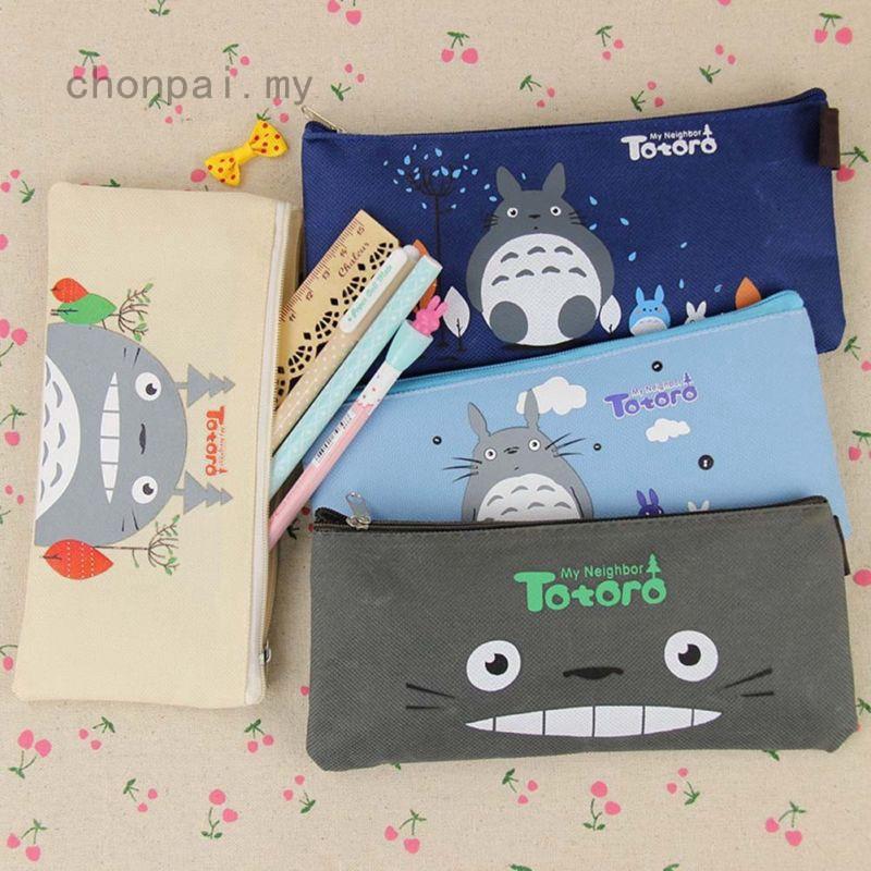 Túi vải canvas đựng bút - Túi đựng bút vải canvas Totoro đáng yêu