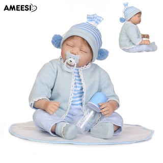 🔅🔆AMEESI 55cm Realistic Vinyl Silicone Reborn Baby Doll Accompany Toy