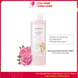 [Freeship - Hàng Auth] Nước hoa hồng dưỡng da cung cấp độ ẩm Mamonde Rose Water Toner Hàn Quốc 250ml