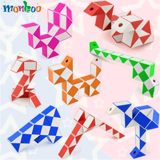 ✨Monboo✨ 24 Blocks Ruler Magic Cube Highly Folding Resistance Puzzle Magic Ruler Cube Snake Twist Puzzle Rubik Game