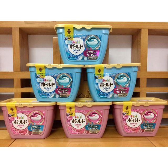 Combo 12 hộp viên giặt ( 2 thùng) Gelball 18 viên 3D mẫu mới Nhật bản