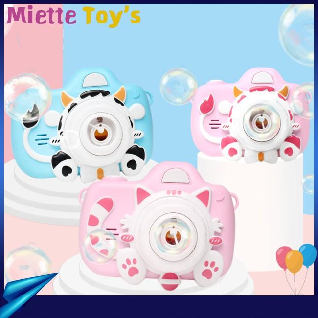 Automatic Bubble Machine Toy for Kids Boys Camera Bubble Maker Cartoon Shape