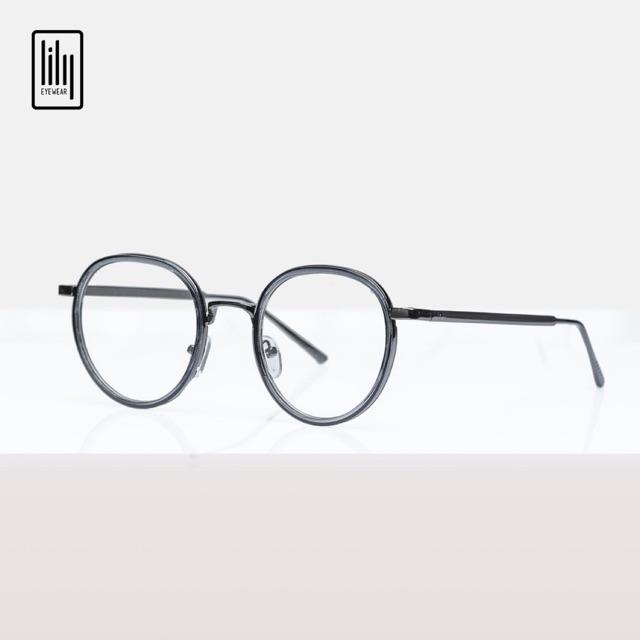 Gọng kính cận lilyeyewear kim loại tròn