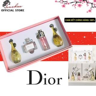 Bộ nước hoa mini chính hãng Set Nước Hoa Dior 4 Chai (Hộp trắng) thumbnail