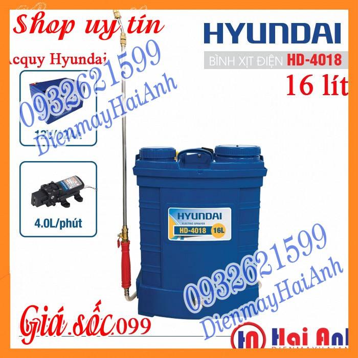 Bình điện phun thuốc trừ sâu Hyundai HD4018 16 lít, ắcquy Hyundai 12v/12Ah - 23013524 , 6803355991 , 322_6803355991 , 1358000 , Binh-dien-phun-thuoc-tru-sau-Hyundai-HD4018-16-lit-acquy-Hyundai-12v-12Ah-322_6803355991 , shopee.vn , Bình điện phun thuốc trừ sâu Hyundai HD4018 16 lít, ắcquy Hyundai 12v/12Ah