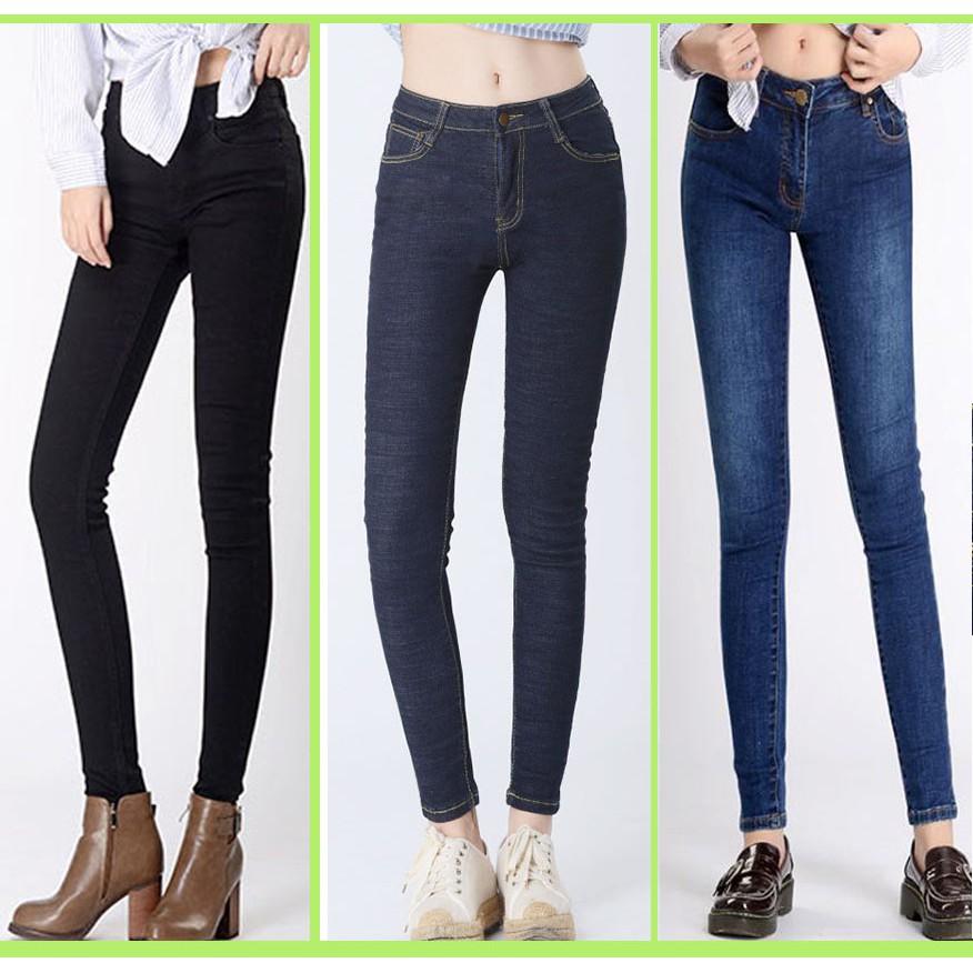 bigsize♥️Quần jean nữ co giản 65_80kg mặc vừa