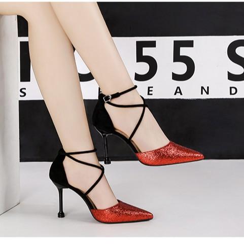 giày pha lê- giày cao gót nữ thời trang- giày dj tiệc- giày lấp lánh- giày cao gót có quai- giày công sở