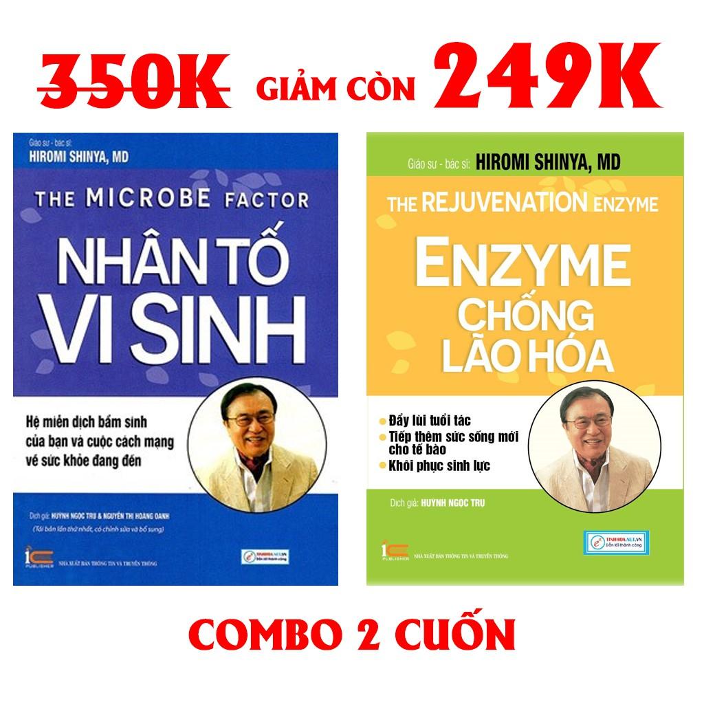 Sách - Combo Nhân tố vi sinh và Enzyme chống lão hóa