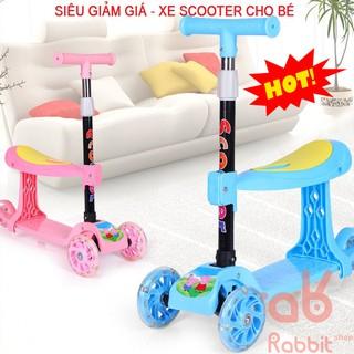Xe trượt Scooter 3 bánh cao cấp cho bé từ 2 - 10 tuổi Gấp gọn Bánh xe phát sáng thumbnail