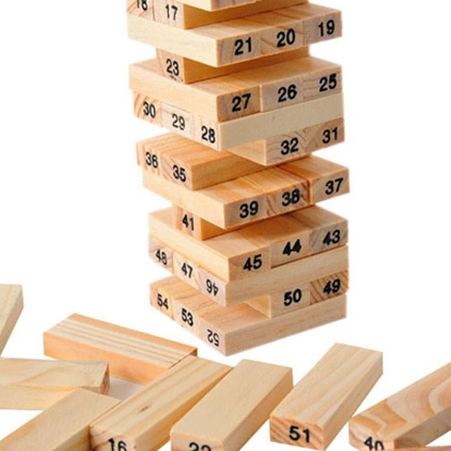 Bộ đồ chơi rút gỗ 54 thanh ZTIỆN LỢI