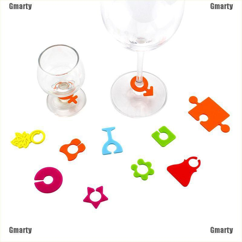 Gmarty 24Pcs Silicone Party Wine Glass Bottle Drink Cup Marker Tags Cup Identify Label