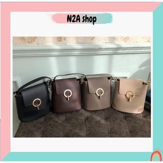 Túi xách nữ THANH LÝ (Có sẵn) Túi túi đeo chéo da pu khóa tròn 4 màu da PU N2a shop