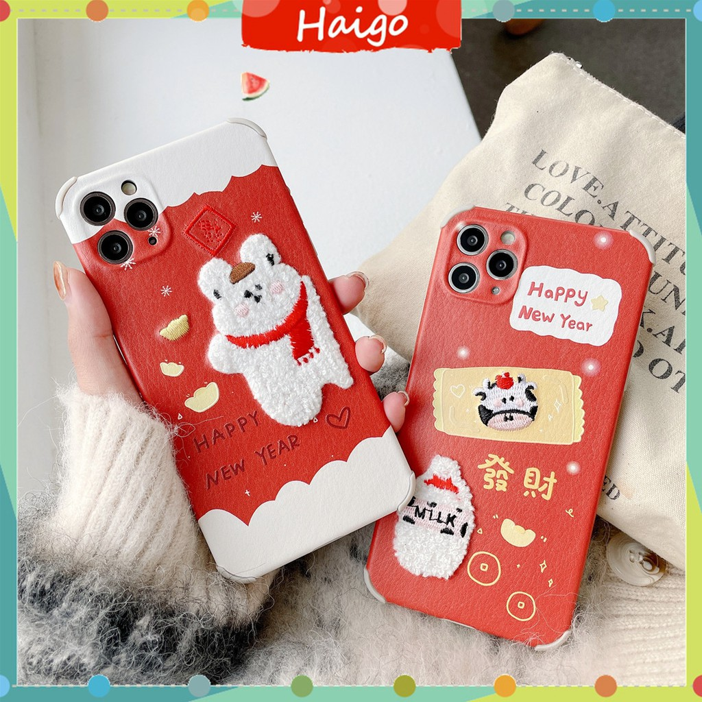 Ốp Lưng Nhựa Mềm In Chữ Chúc Mừng Năm Mới Cho Iphone12 Mini 11 Pro Max 6 / 6s 7 / 8plus Se2 X / Xs Xr Xsmax # Hg3530