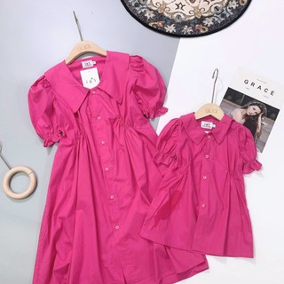 Combo 2 sét váy bé size 2 và 4 + váy mẹ size M