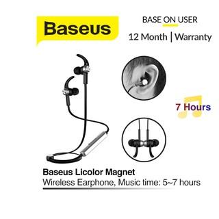 Tai nghe không dây Baseus Licolor Magnet, Wireless Earphone, nghe nhạc liên tục 7 giờ