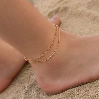 Simple Personality Multi-layer Snake Bone Shaped Anklet Fashion Ladies Double Layer Foot Chain Summer Foot Jewelry thumbnail